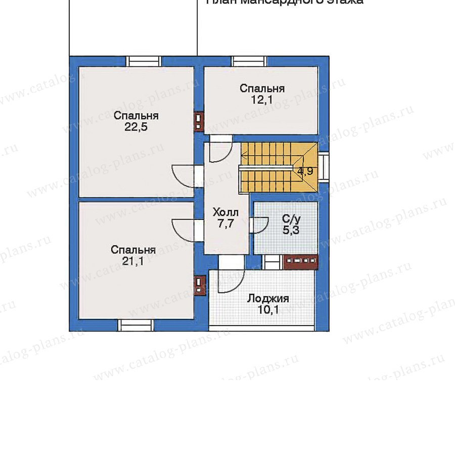 План 2-этажа проекта 52-07