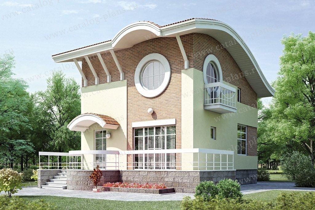 Проект жилой дом #52-06 материал - газобетон, стиль современный