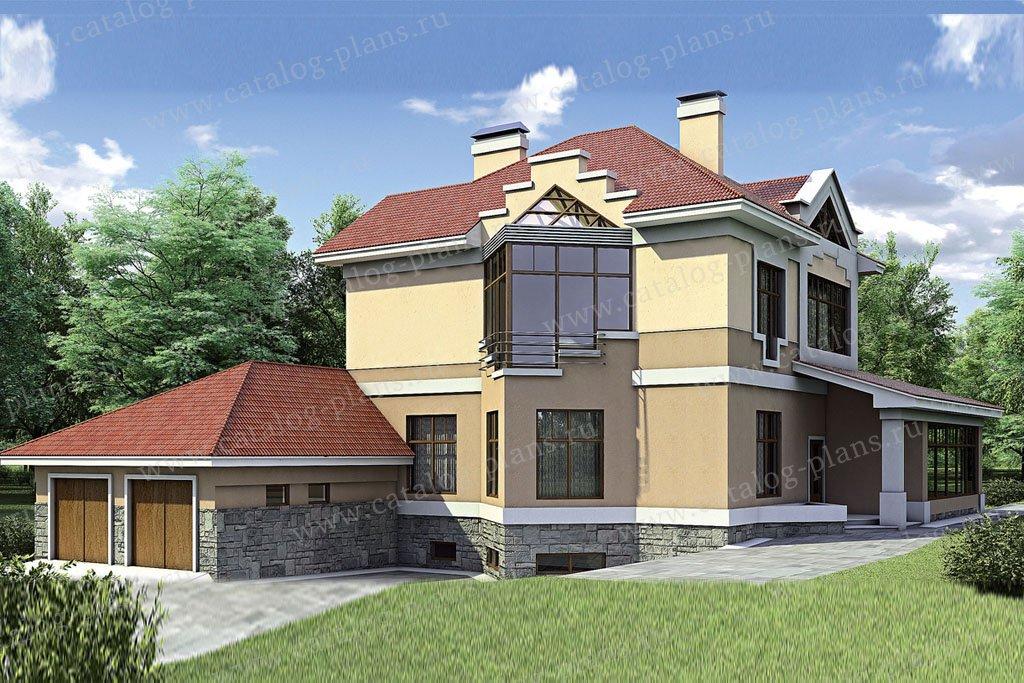 Проект жилой дом #52-20 материал - газобетон, стиль классический