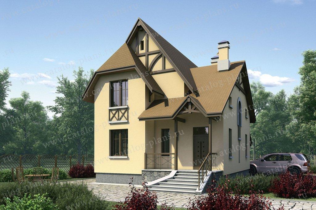 Проект жилой дом #52-33 материал - газобетон, стиль немецкий
