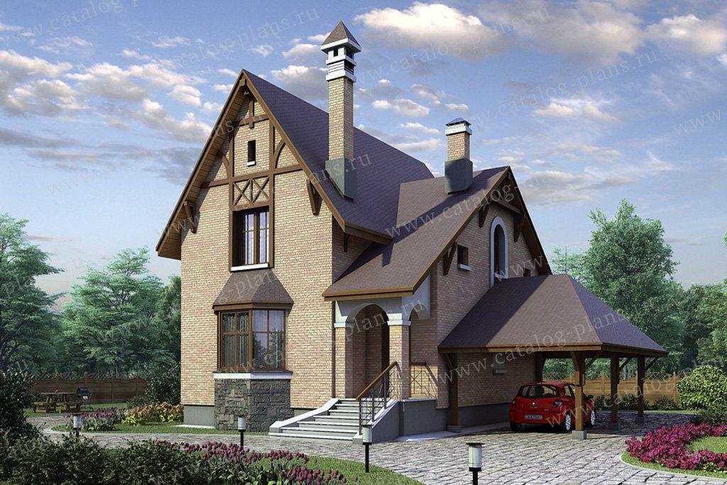 Проект жилой дом #52-34 материал - газобетон, стиль немецкий