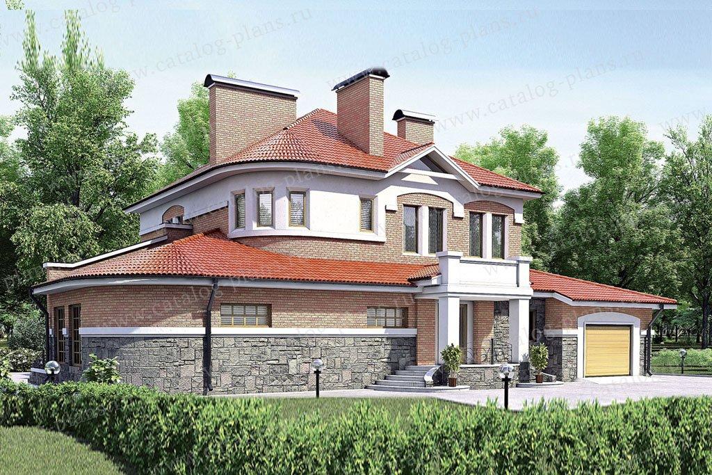 Проект жилой дом #52-13 материал - газобетон, стиль европейский