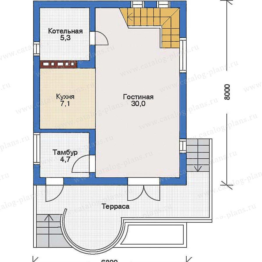 План 1-этажа проекта 52-06