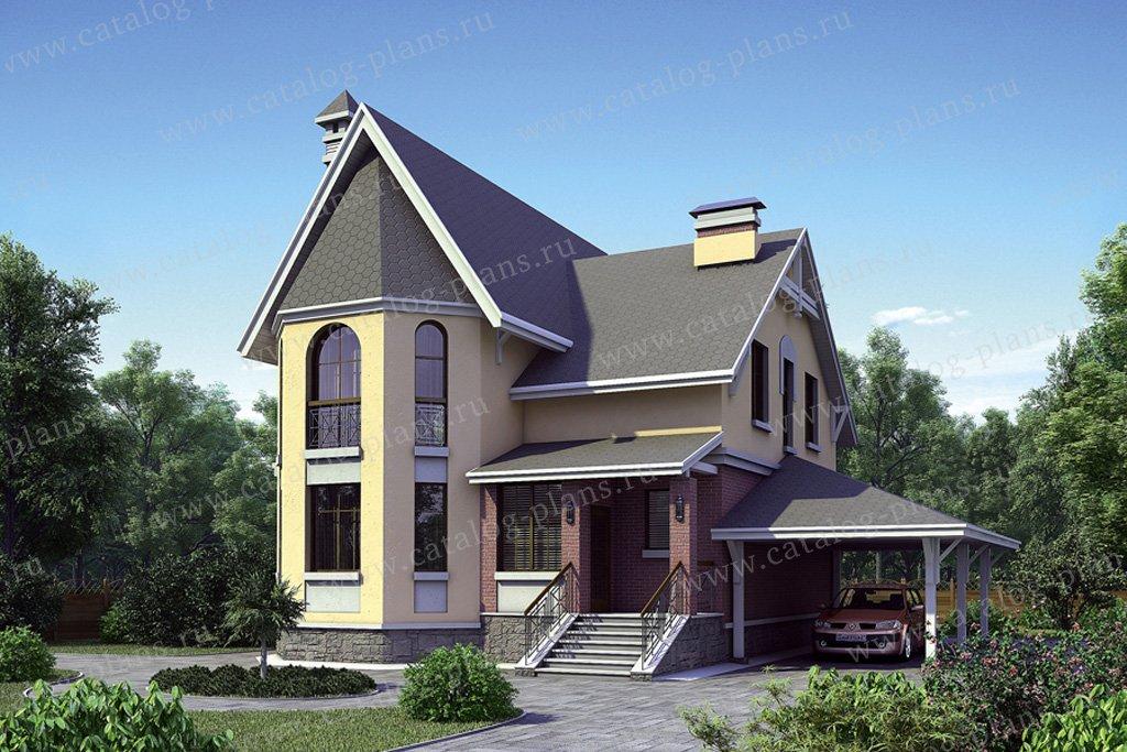 Проект жилой дом #52-61 материал - газобетон, стиль европейский