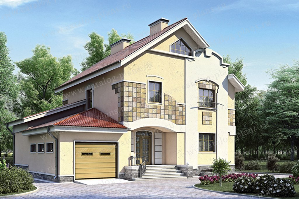 Проект жилой дом #52-17 материал - газобетон, стиль современный