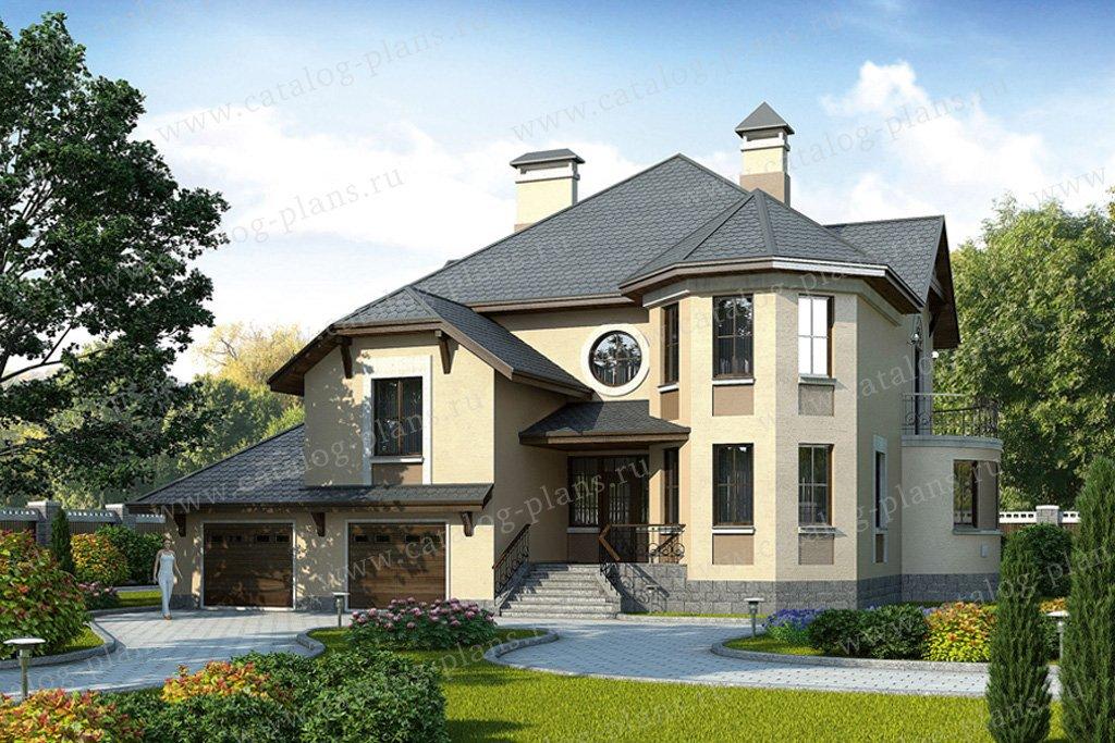 Проект жилой дом #52-65 материал - газобетон, стиль европейский