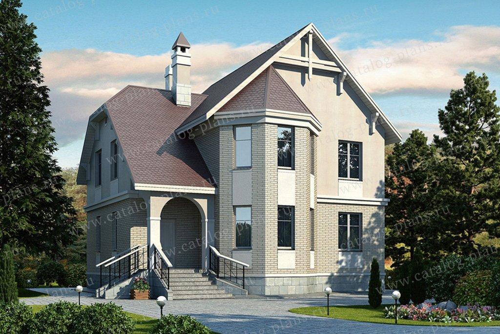 Проект жилой дом #52-09 материал - газобетон, стиль европейский