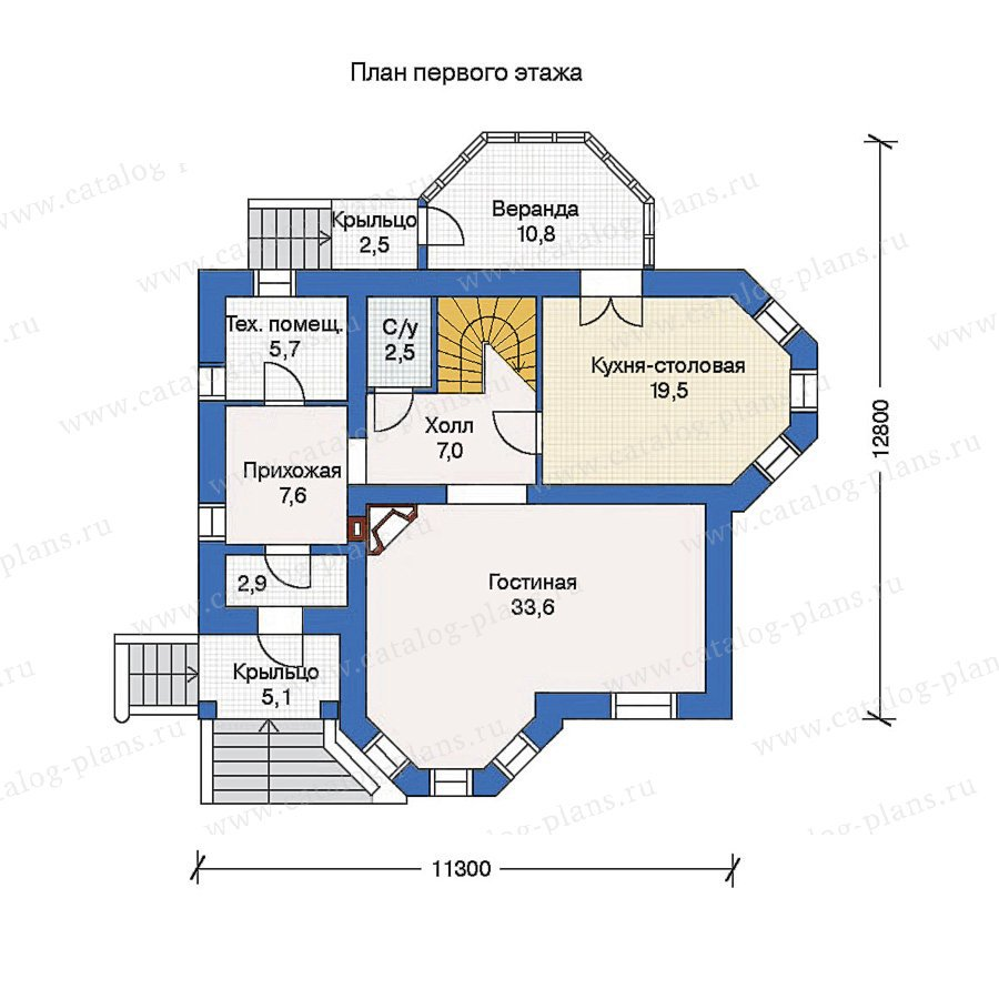 План 1-этажа проекта 52-09