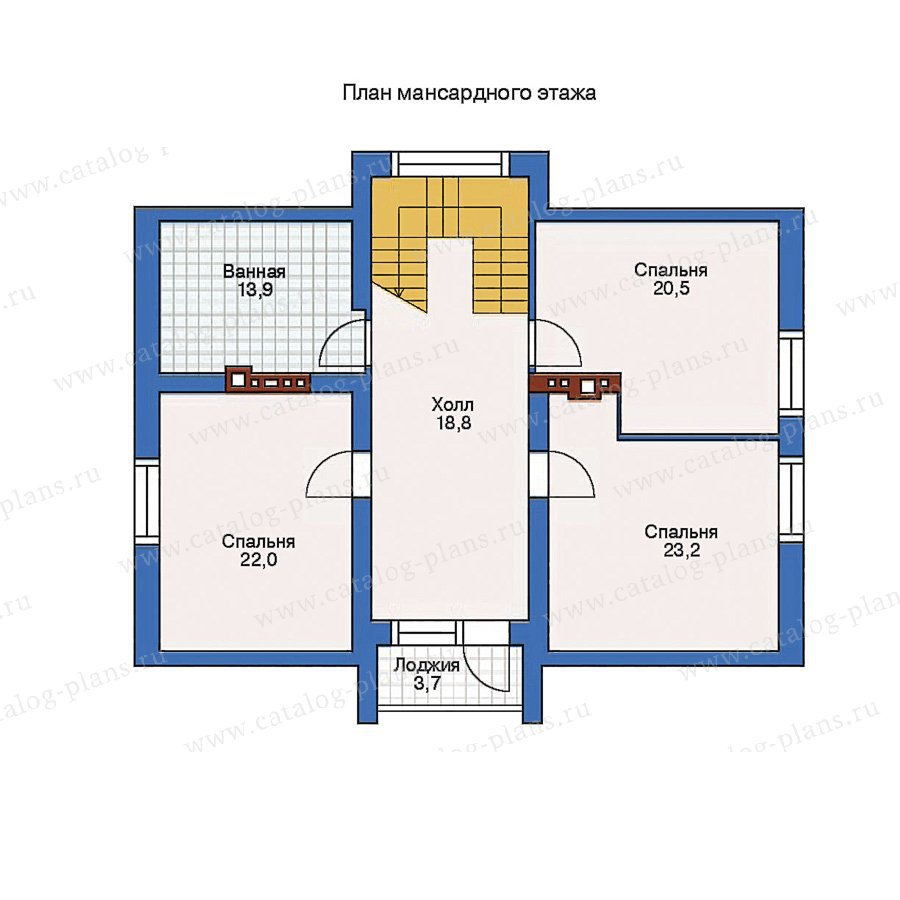 План 2-этажа проекта 52-05