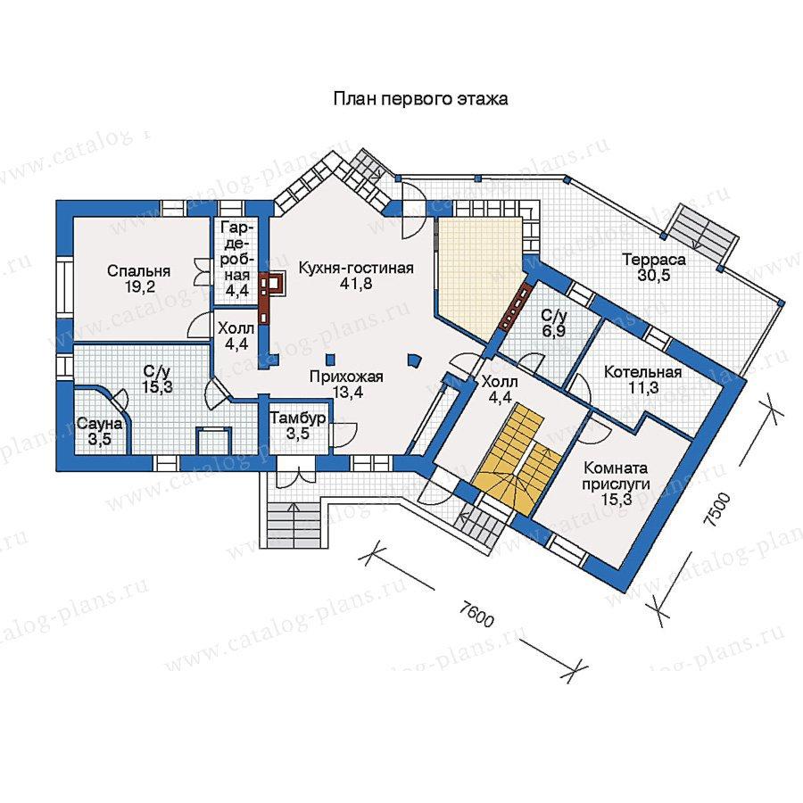 План 1-этажа проекта 52-03