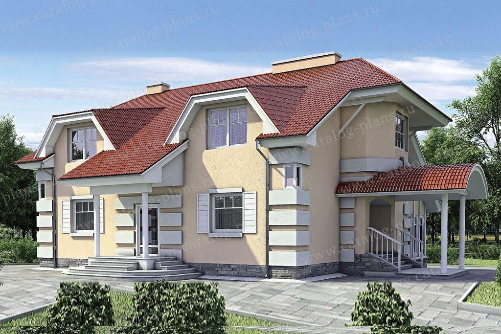 Проект жилой дом #52-22 материал - газобетон, стиль классический