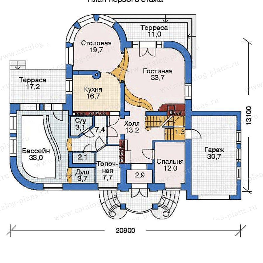 План 2-этажа проекта 52-13