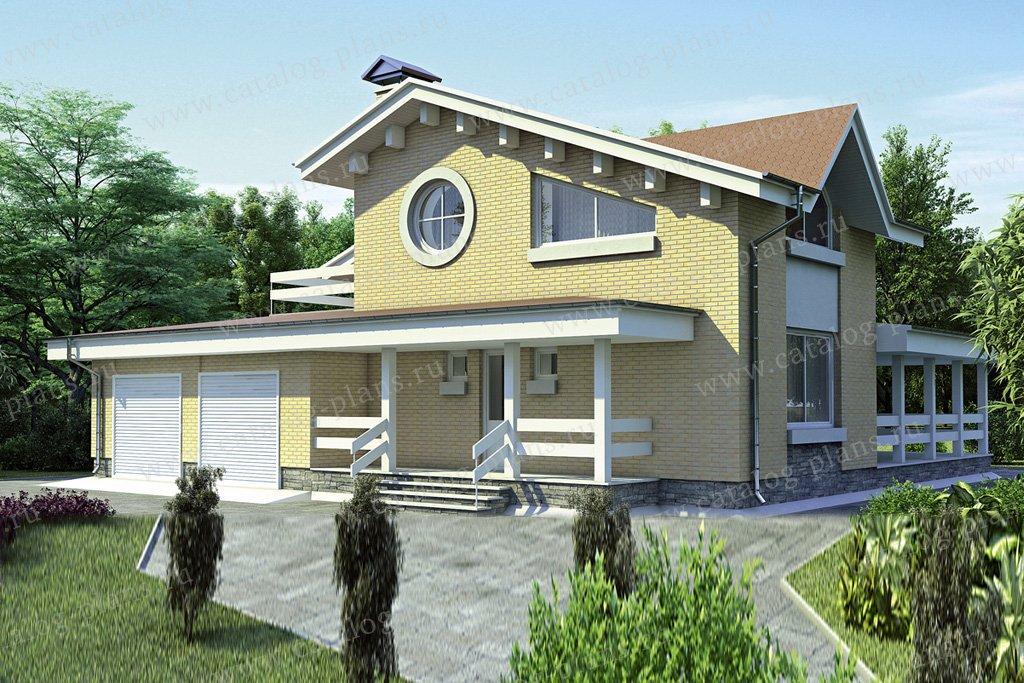 Проект жилой дом #52-58 материал - газобетон, стиль европейский
