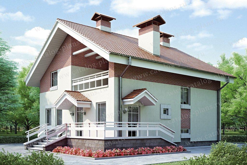 Проект жилой дом #52-07 материал - газобетон, стиль современный