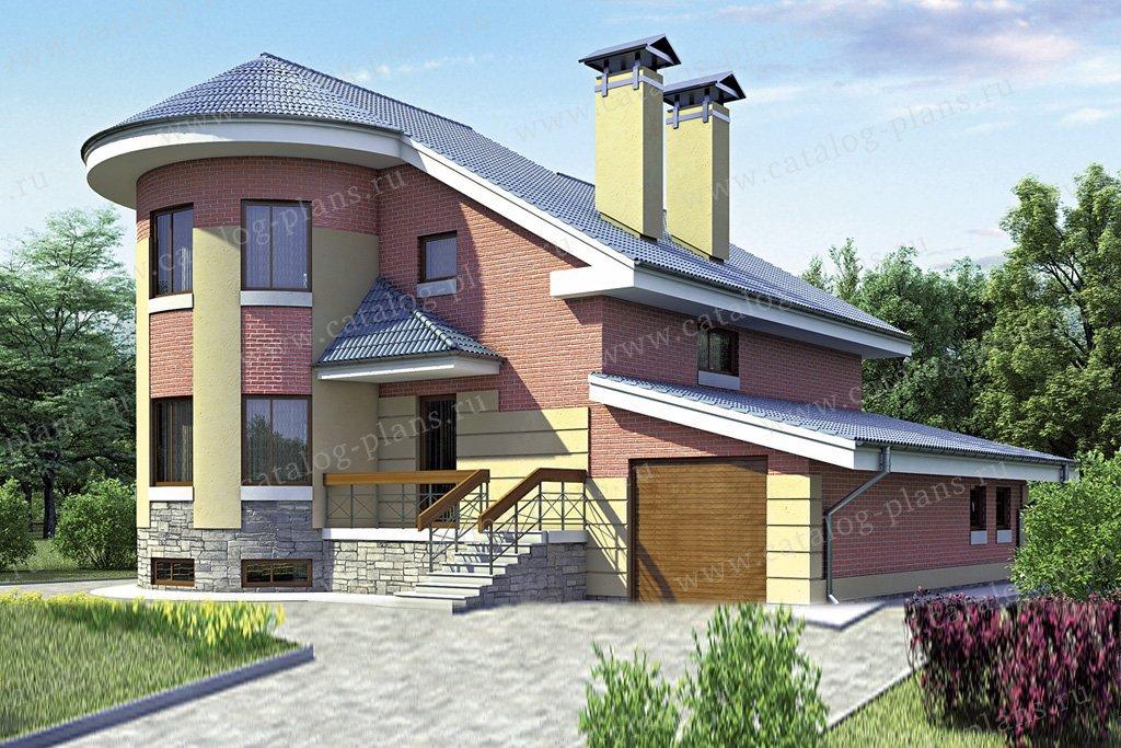 Проект жилой дом #52-52 материал - газобетон, стиль европейский