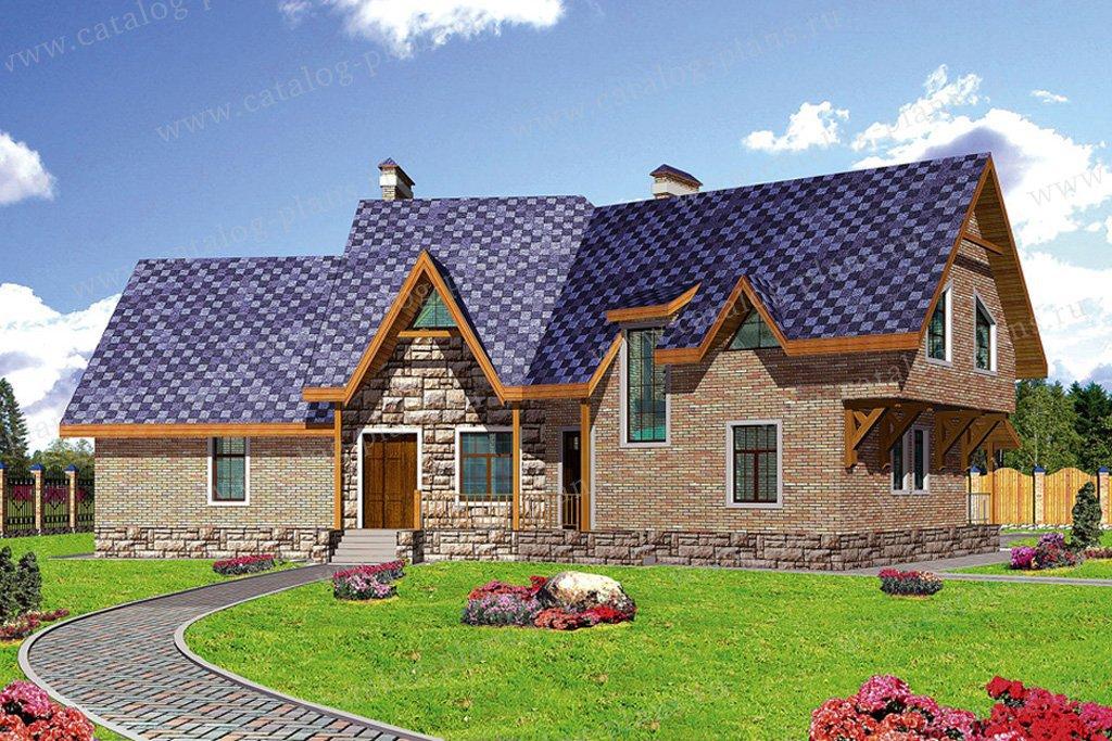 Проект жилой дом #52-03 материал - газобетон, стиль европейский