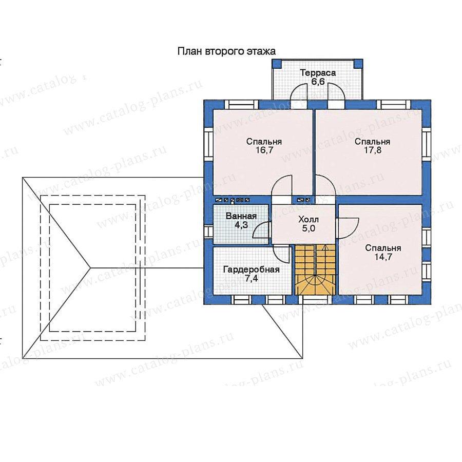 План 2-этажа проекта 52-55