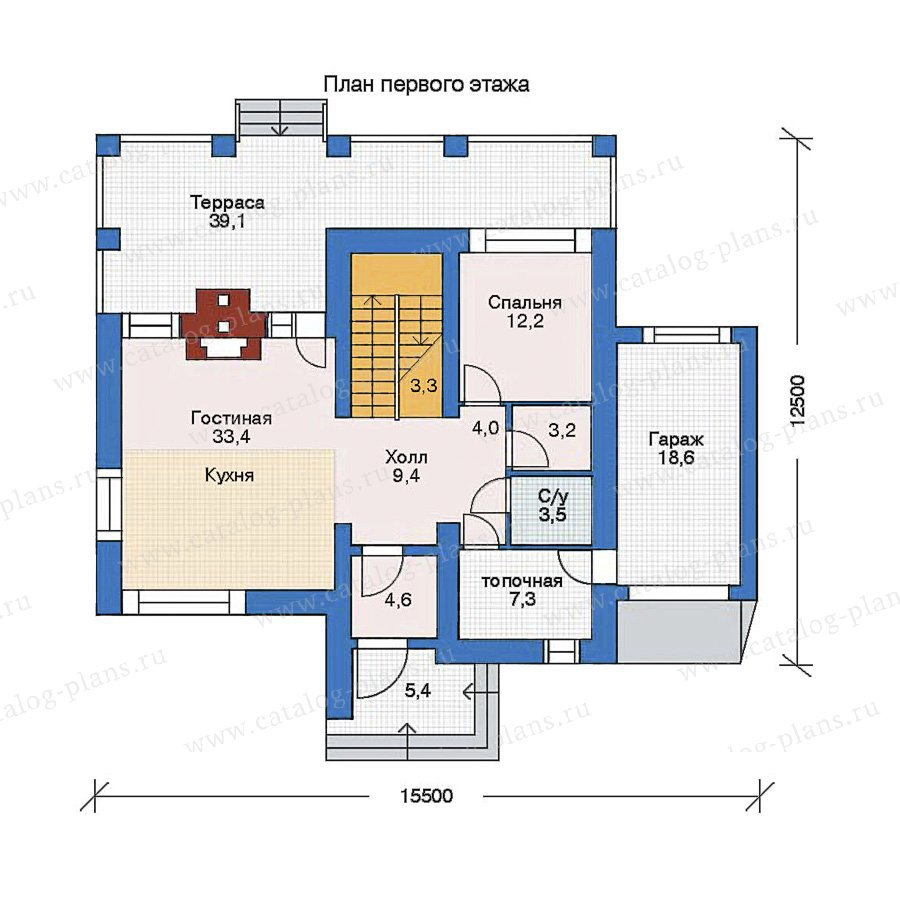 План 1-этажа проекта 52-26