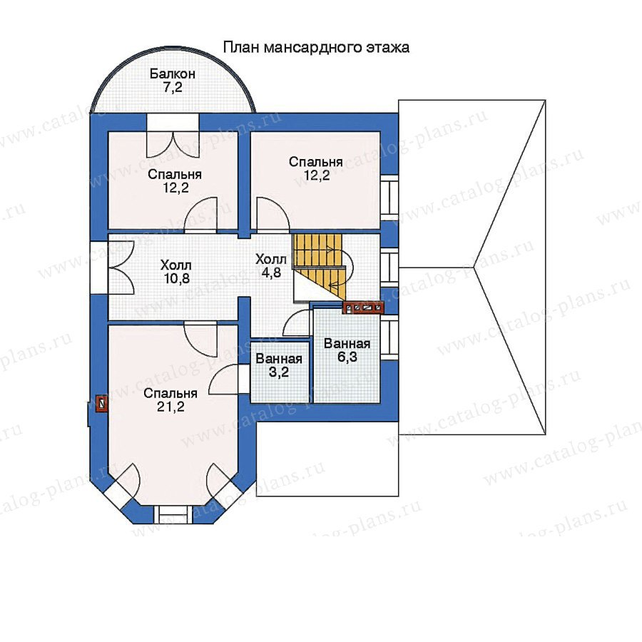 План 2-этажа проекта 52-61