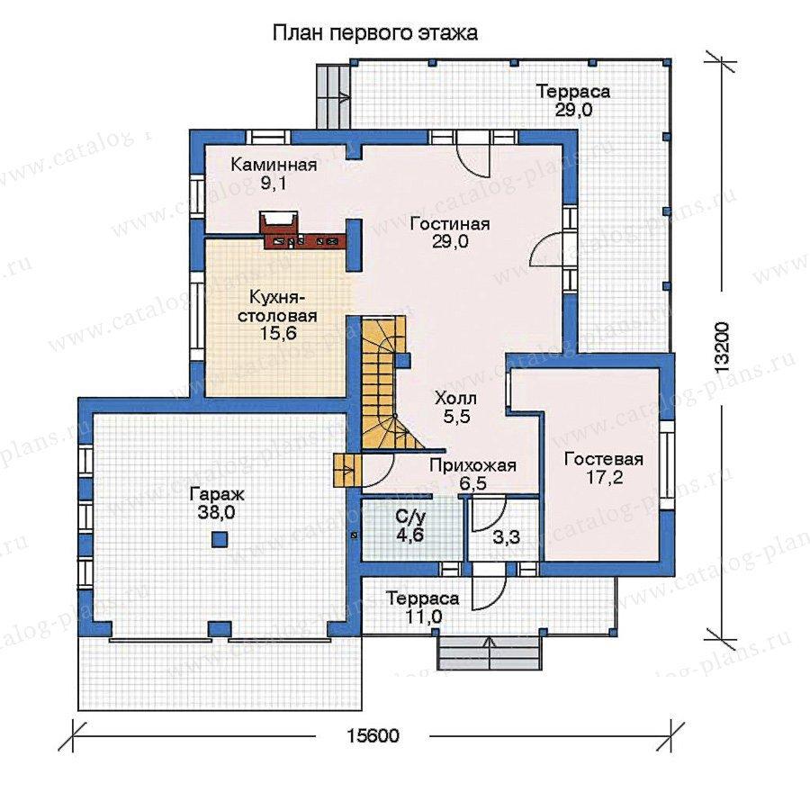 План 1-этажа проекта 52-58