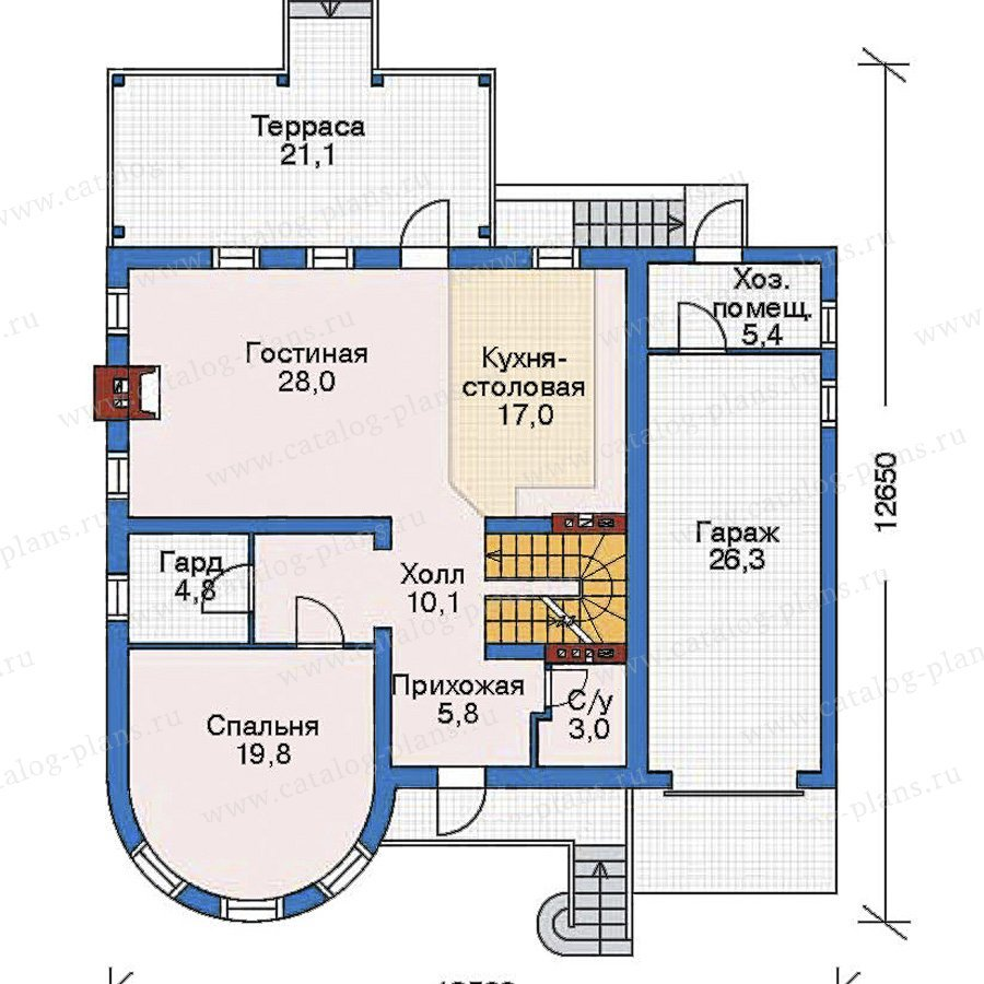 План 2-этажа проекта 52-52
