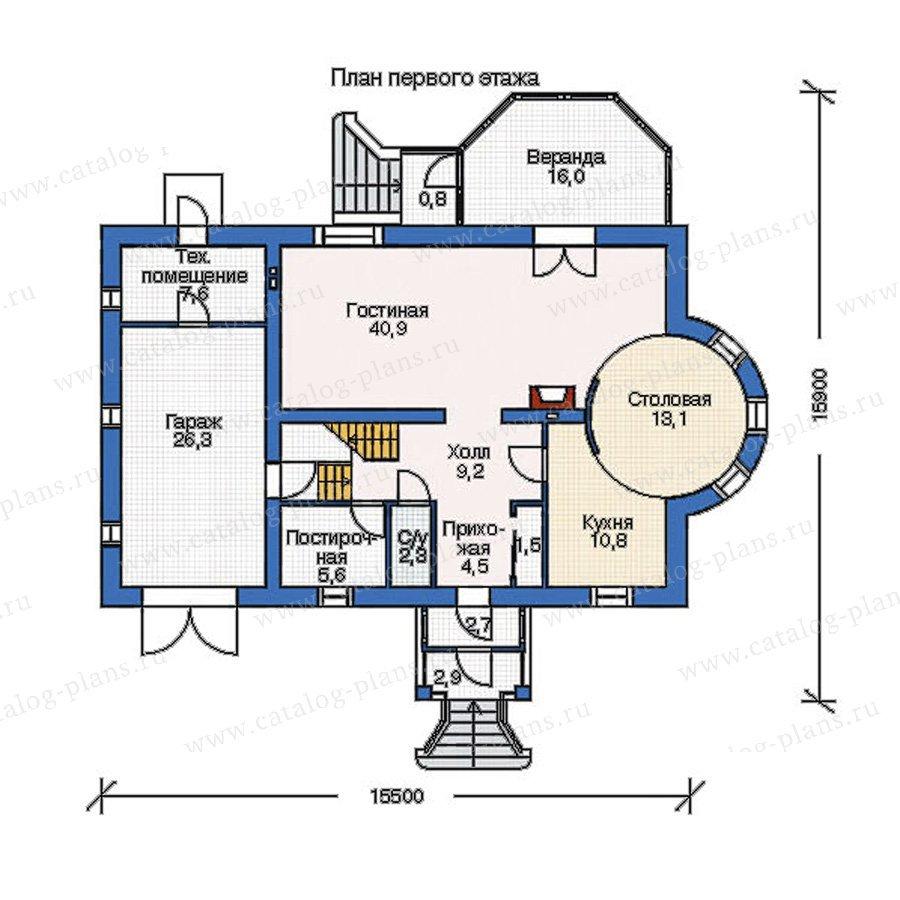 План 1-этажа проекта 52-63