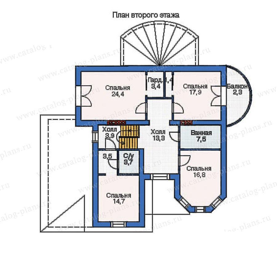 План 2-этажа проекта 52-65