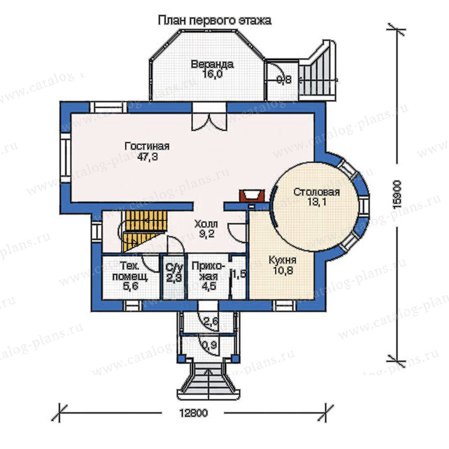 План 1-этажа проекта 52-62