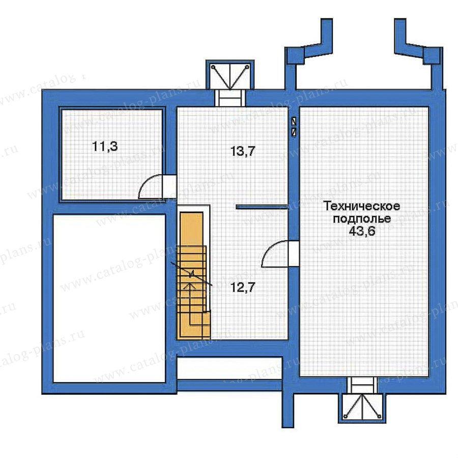 План 1-этажа проекта 52-17