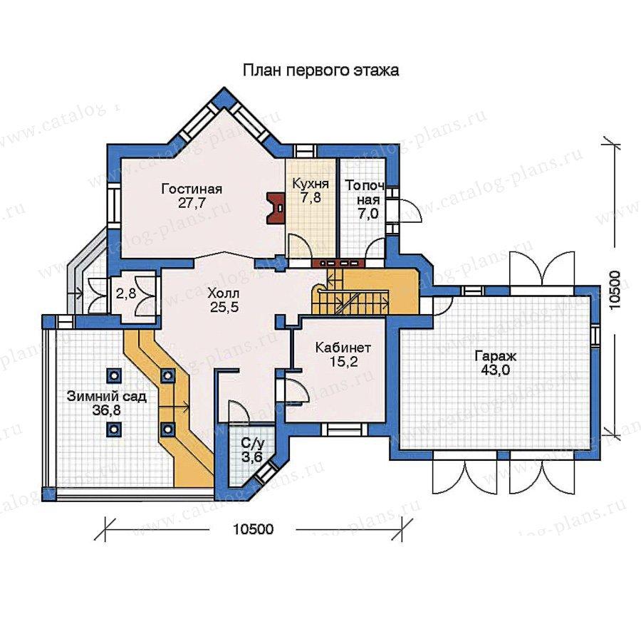 План 2-этажа проекта 52-24