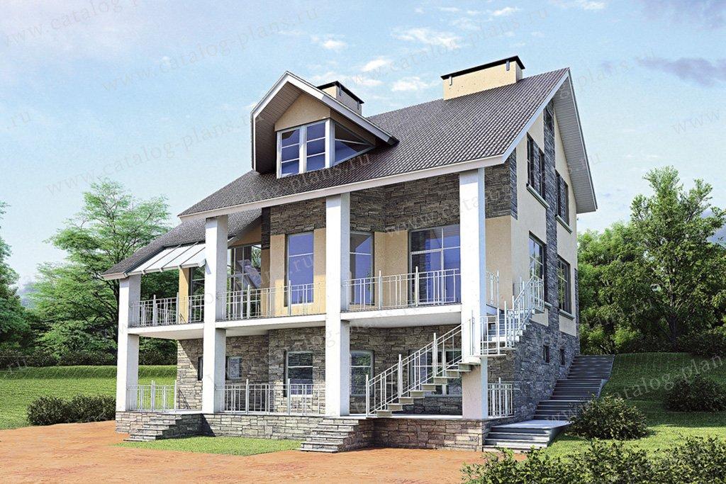 Проект жилой дом #52-96 материал - газобетон, стиль современный
