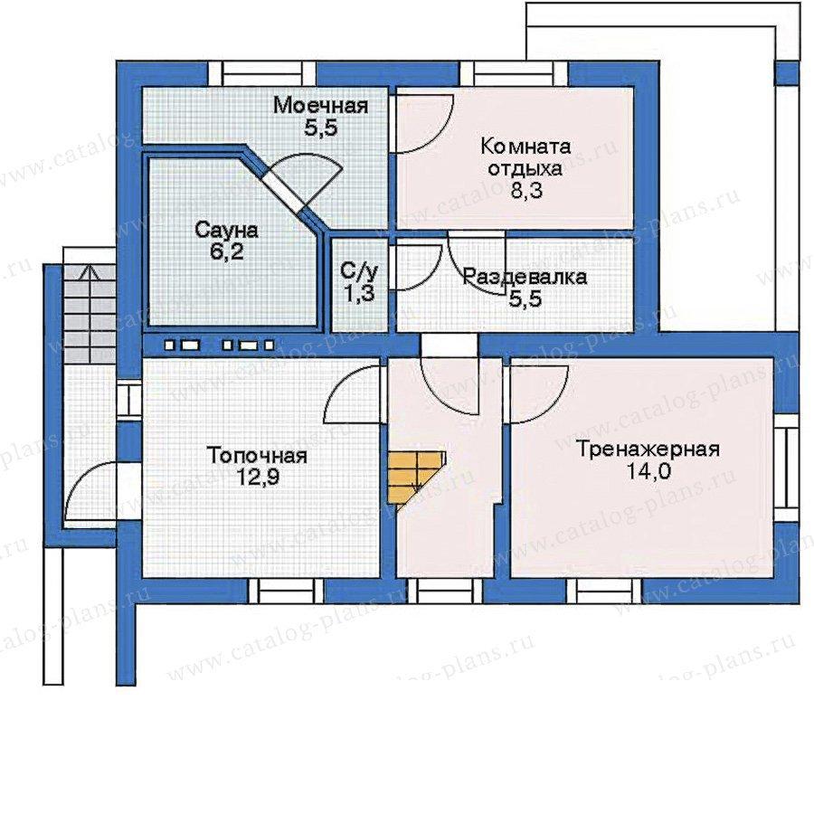 План 1-этажа проекта 52-53