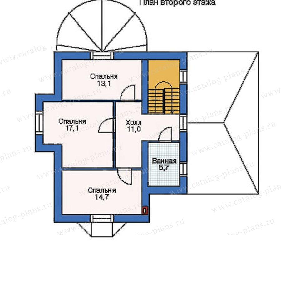 План 2-этажа проекта 52-34