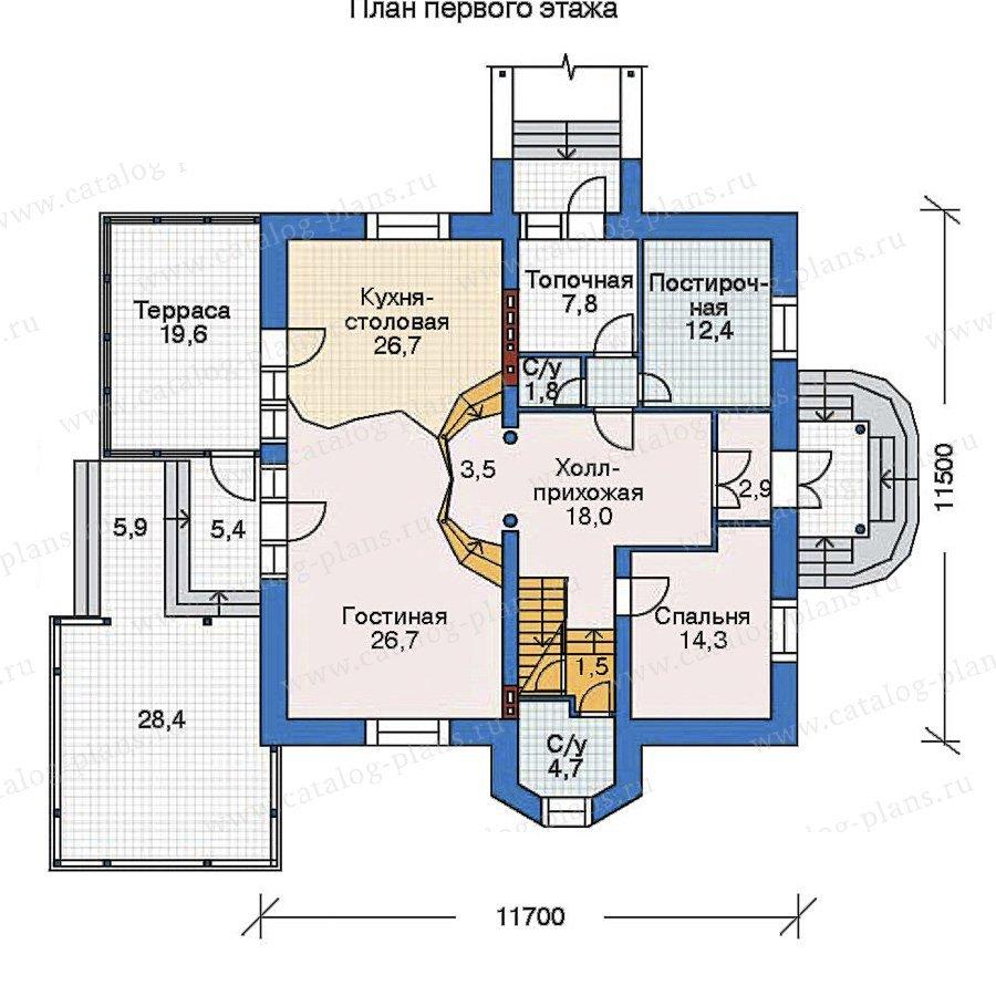 План 2-этажа проекта 52-22