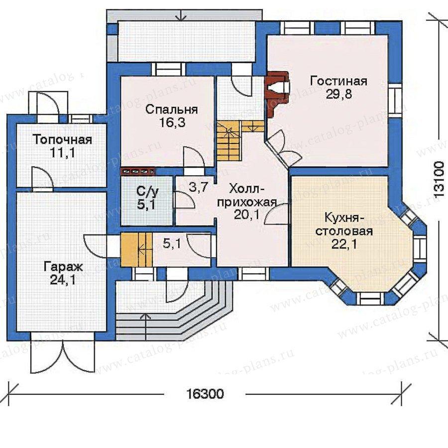 План 2-этажа проекта 52-21