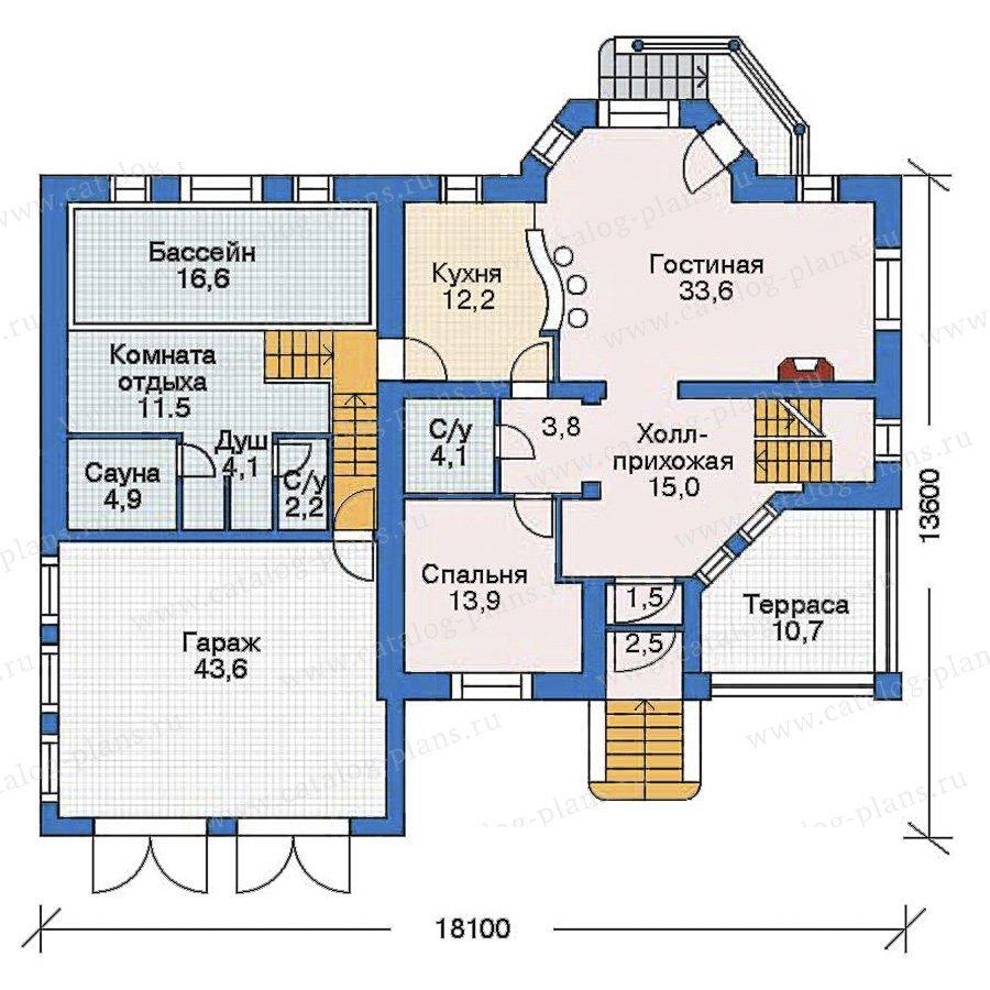 План 2-этажа проекта 52-27