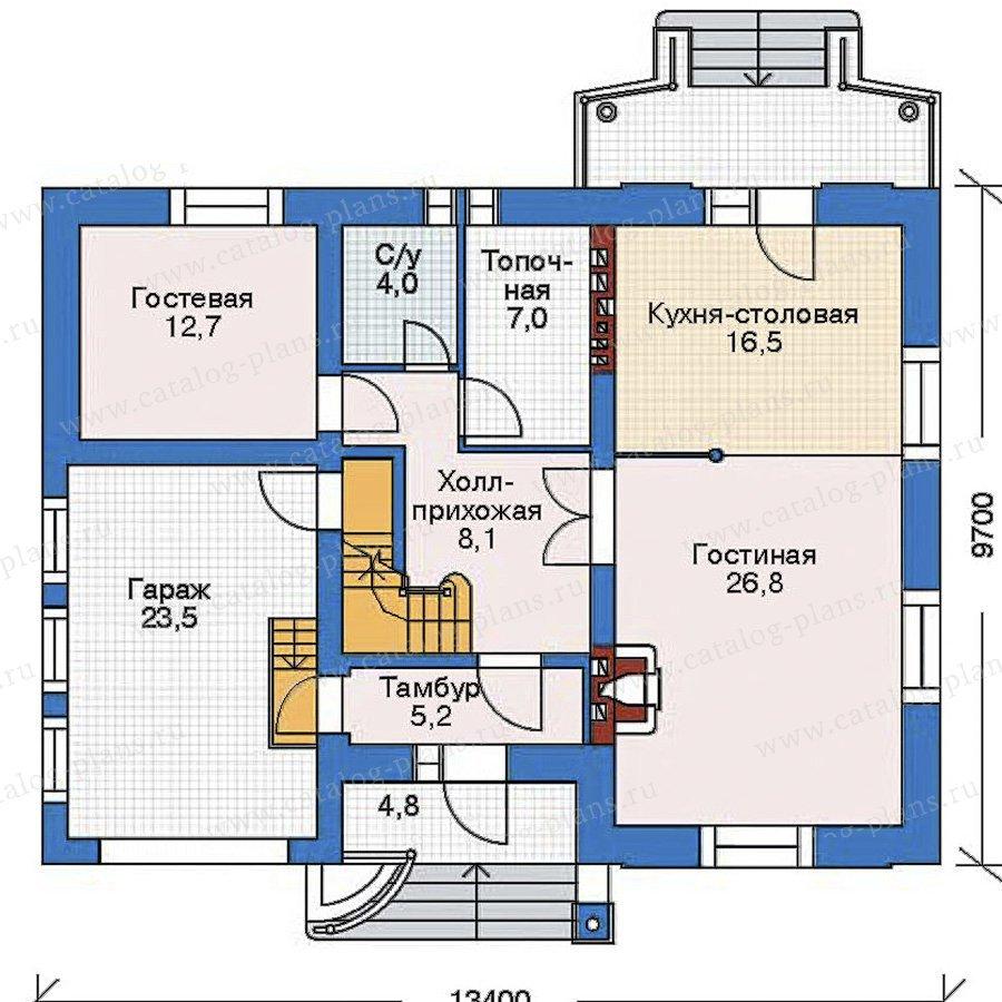 План 2-этажа проекта 52-17