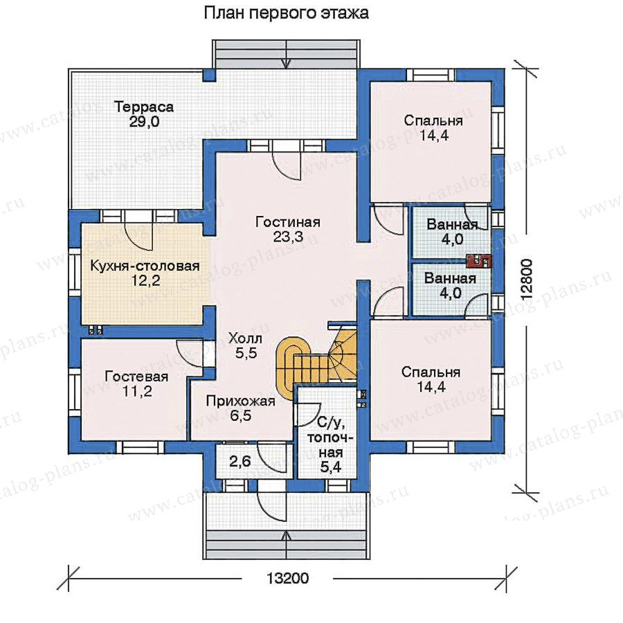 План 1-этажа проекта 52-66