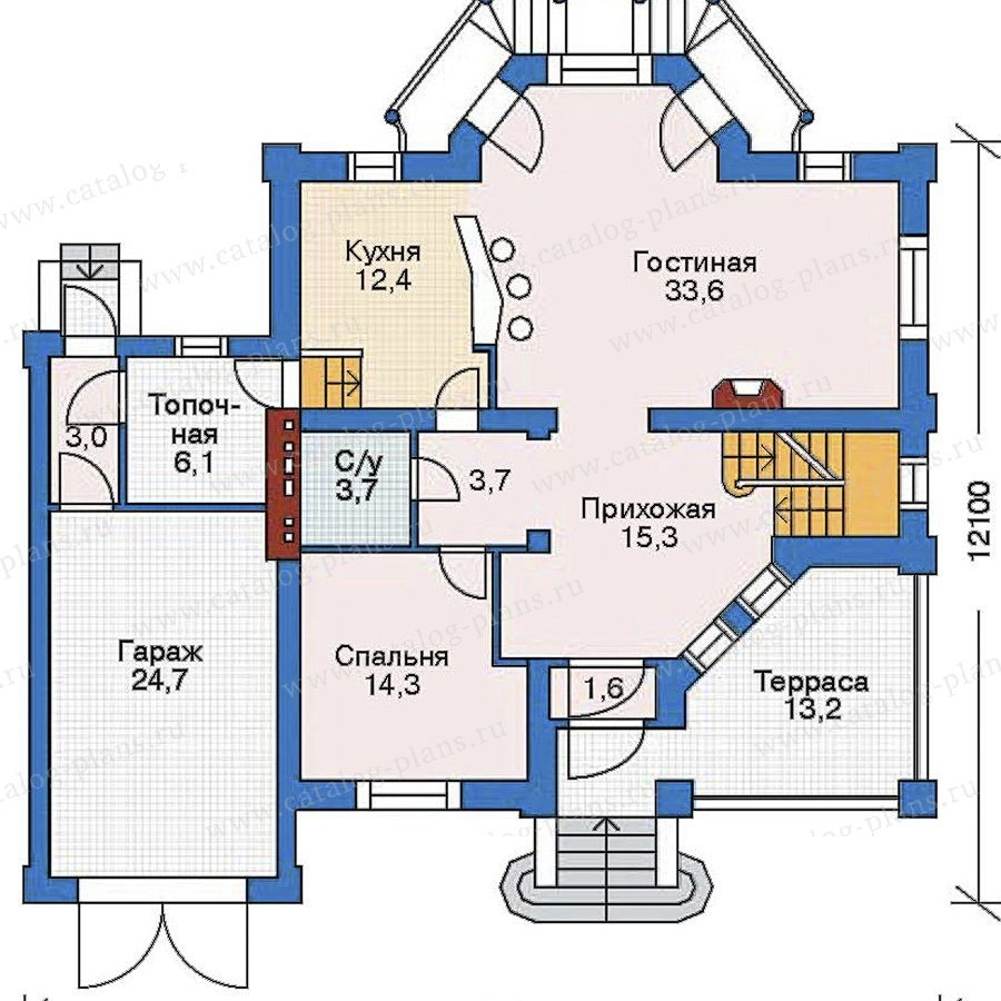 План 2-этажа проекта 52-16