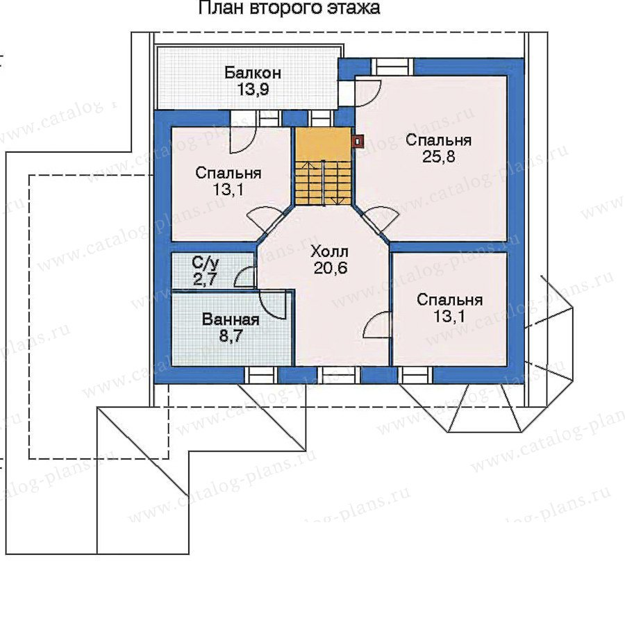 План 3-этажа проекта 52-21