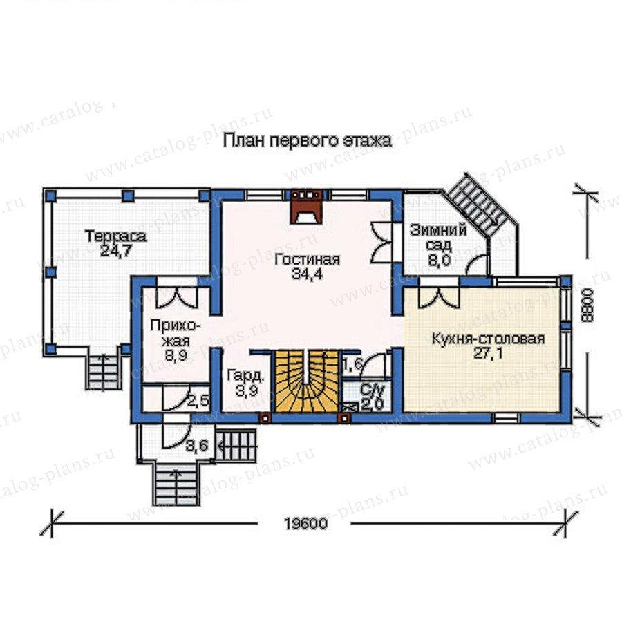 План 2-этажа проекта 52-29