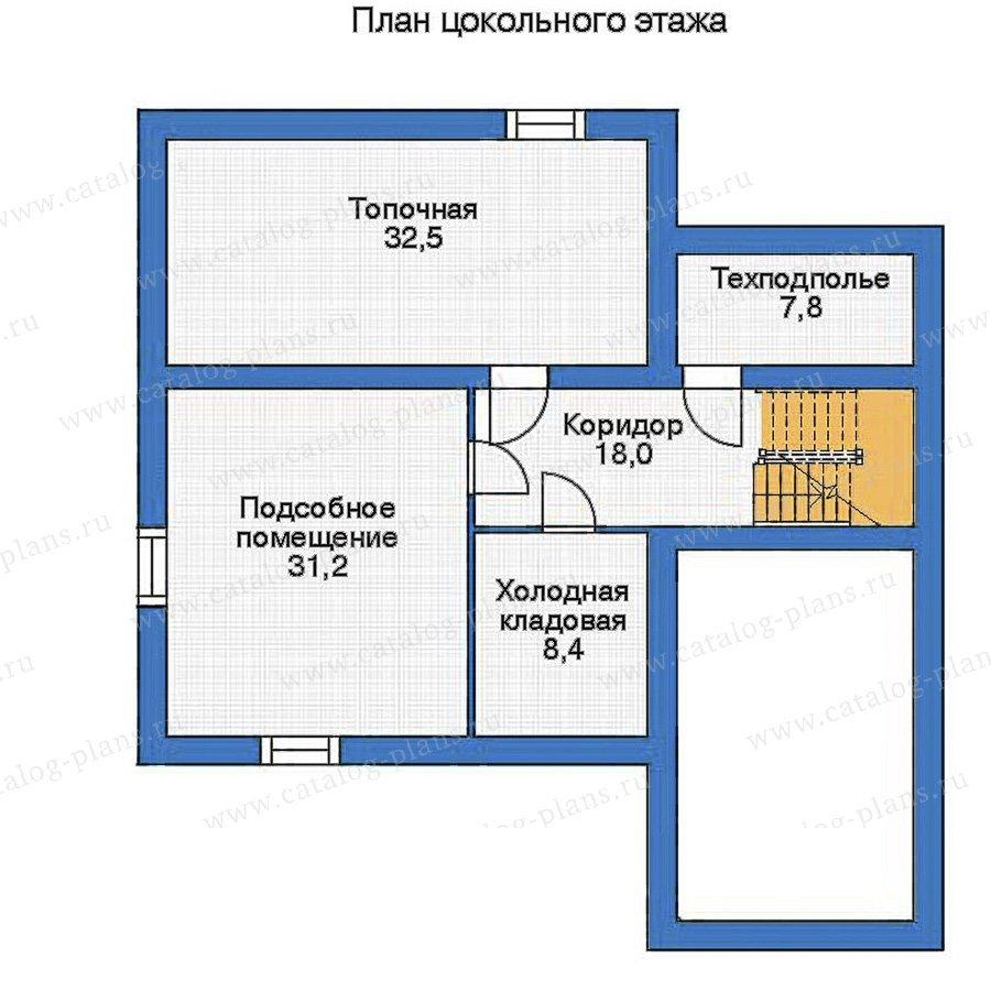 План 1-этажа проекта 52-18