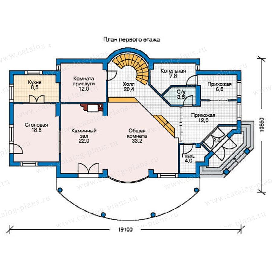 План 1-этажа проекта 52-89