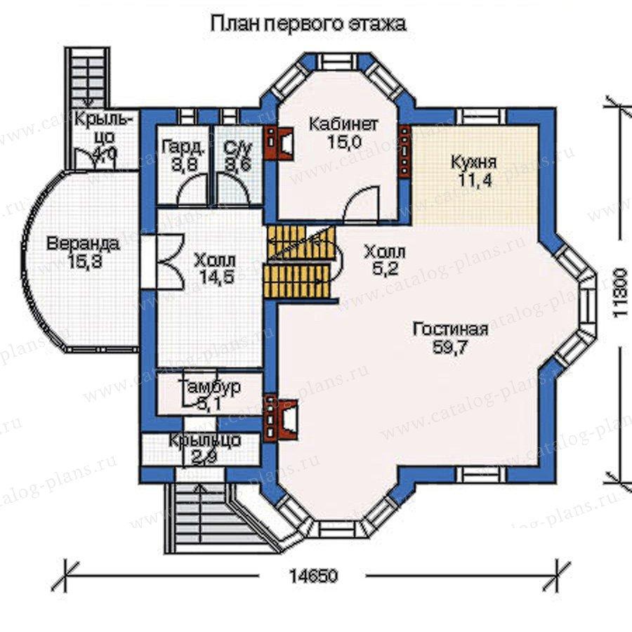 План 2-этажа проекта 52-60