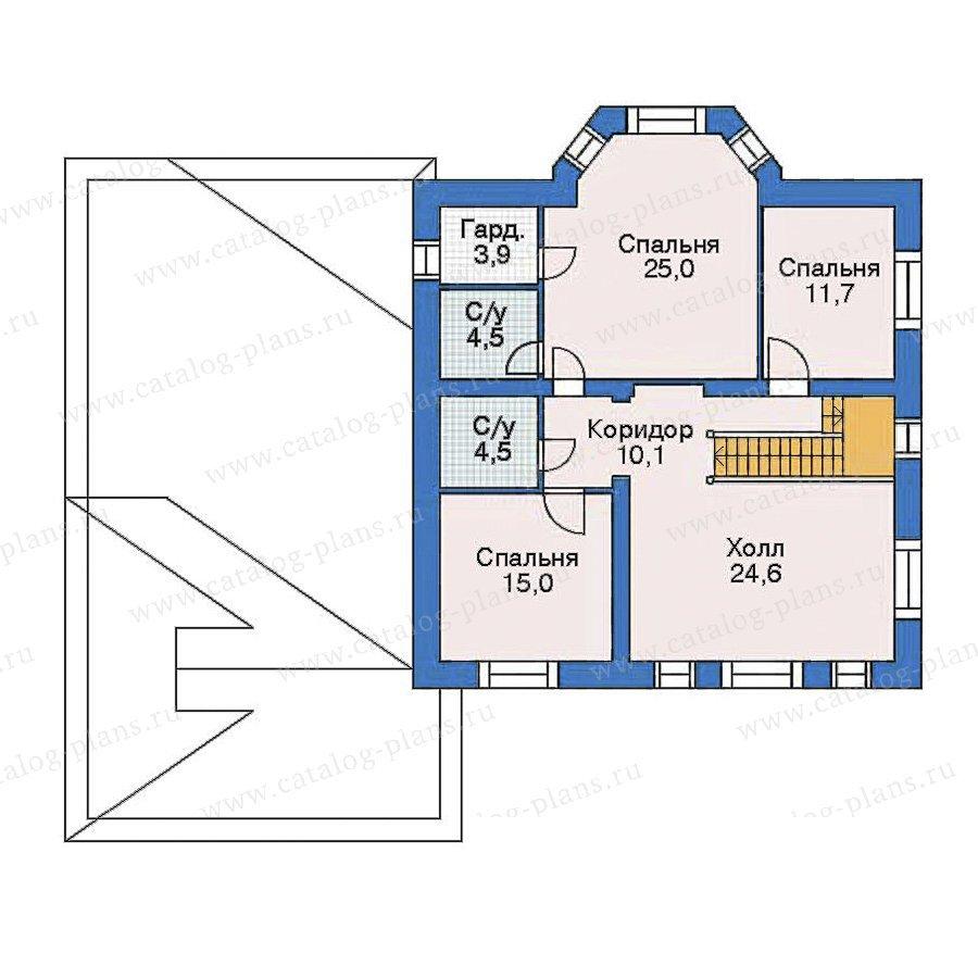 План 3-этажа проекта 52-27