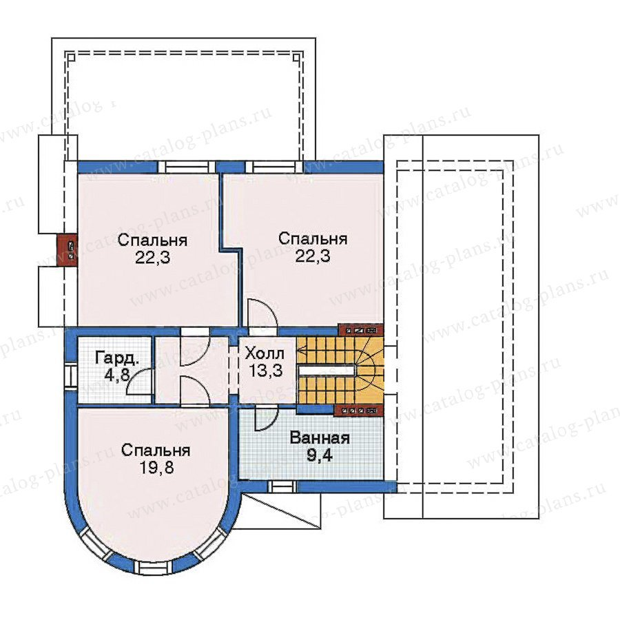 План 3-этажа проекта 52-52
