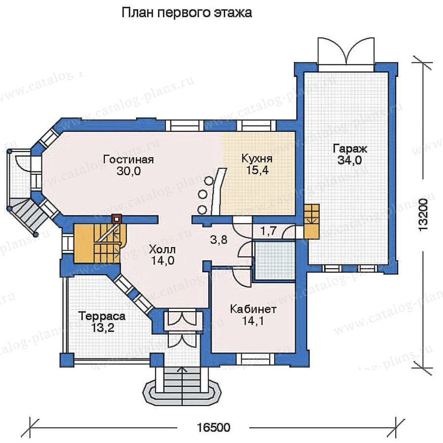 План 2-этажа проекта 52-19