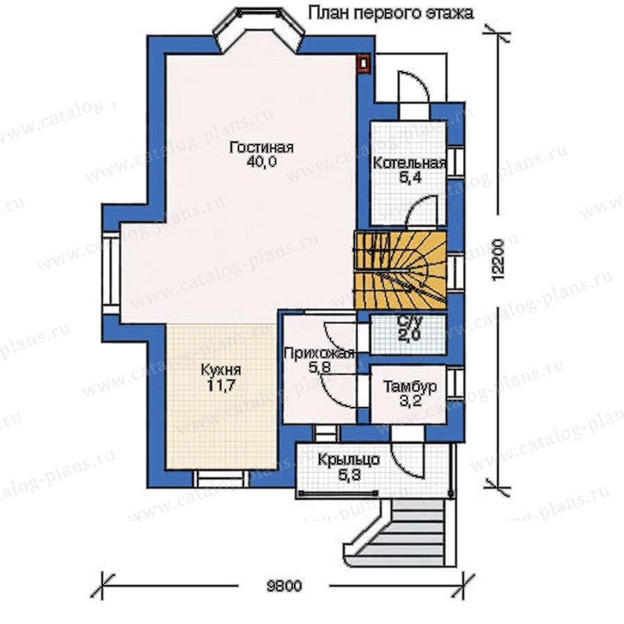 План 1-этажа проекта 52-33
