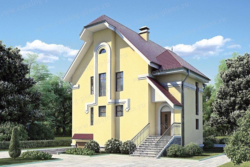 Проект жилой дом #52-90 материал - газобетон, стиль европейский