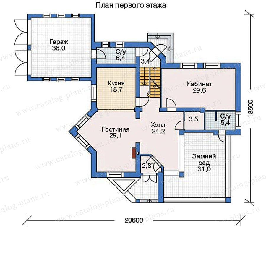 План 2-этажа проекта 52-20